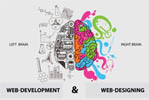 What is the difference between Web-designing & Web-development?