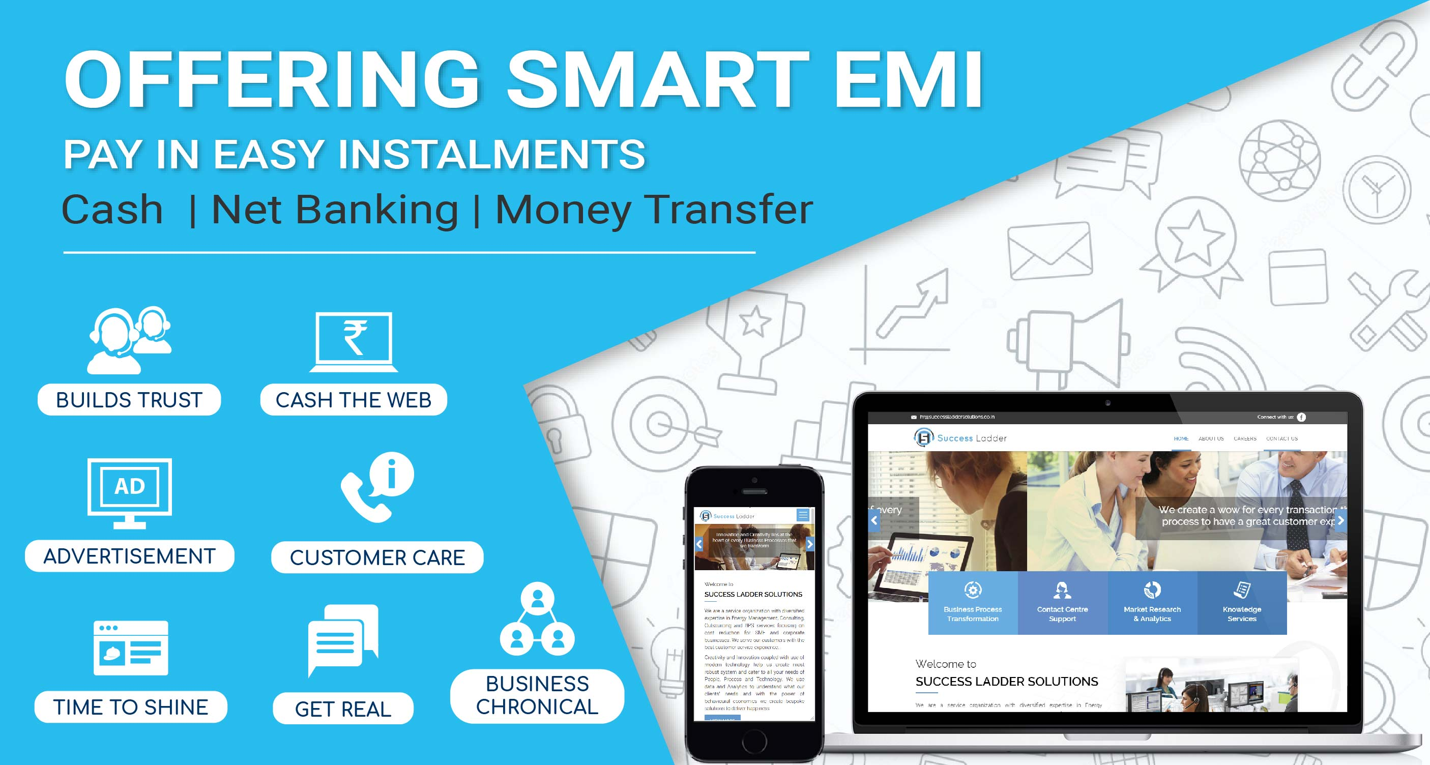 PAY SMALL ON BIG SPENDS WITH OUR CONVENIENT EMI OPTIONS